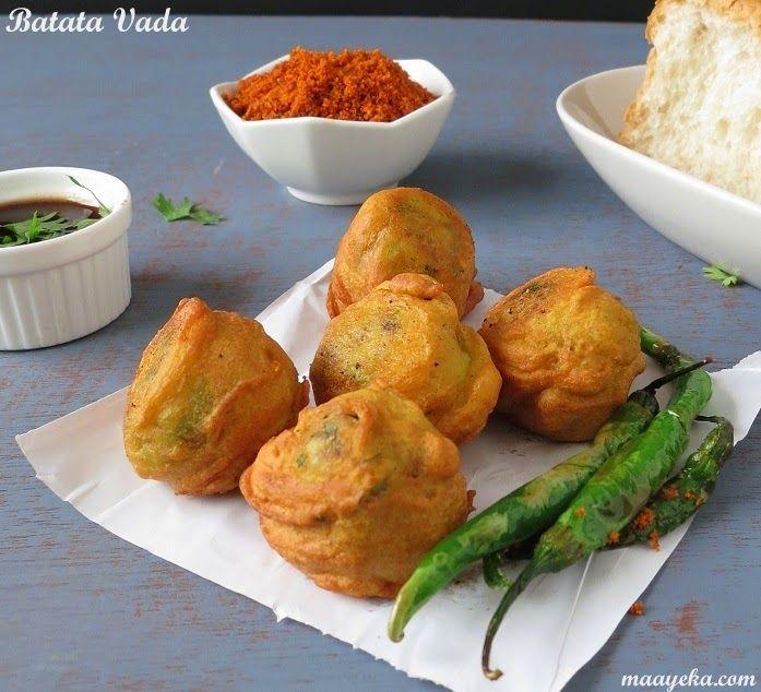 Mumbai Style Batata Vada- Spiced potato dumpling coated with gram flour batter and fried-very popular street food of Mumbai