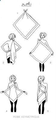 how to tie a toga.