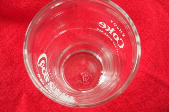 VINTAGE 1950's COKE Glasses / Made in Canada and by BYGONERA