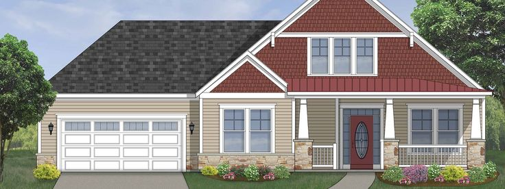 This customizable home is a charmer with its laid back, west coast-inspired architecture and a variety of appealing design option. 2Br/2Ba, 1835 sq ft .