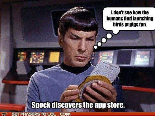 Spock and Angry Birds: Politics Incorrect, Stars Trek, Funny, Startrek, Humor, Things, Spock, Angry Birds, Fandoms