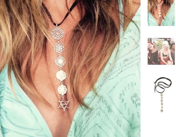 ✨This gorgeous necklace of six interlinked Sacred Geometry symbols is handcrafted from 925 Sterling Silver & hangs beautifully from hand cut suede leather with Turquoise stones at the ends. The top symbol is the Rose of Venus followed by the Seed Of Life, Sunflower, Flower Of Life, Sri Yantra and suspended tantalizingly at the bottom is the Merkaba Tantric Star. <>$85<> with 20% storewide savings online at ~heartmala.com~ promo code:MIDYEARSALE