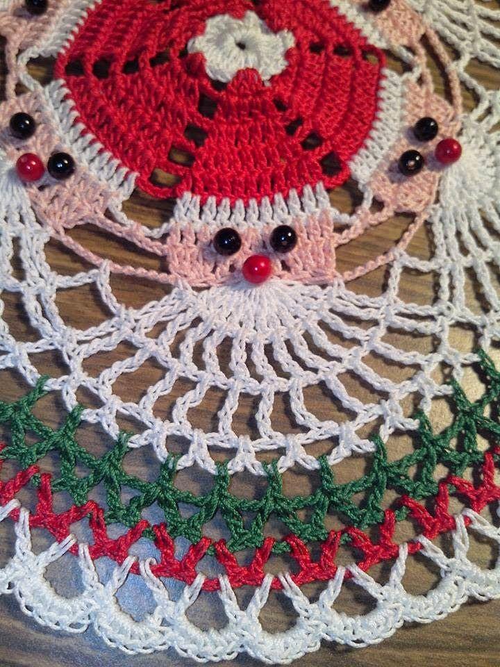 Santa Doily Maria S Creations Christmas Crochet Patterns