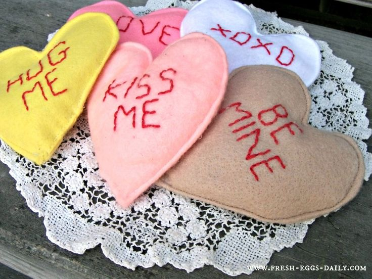 Fresh Eggs Daily®: Valentine Conversation Heart Hand Warmer DIY Tutorial