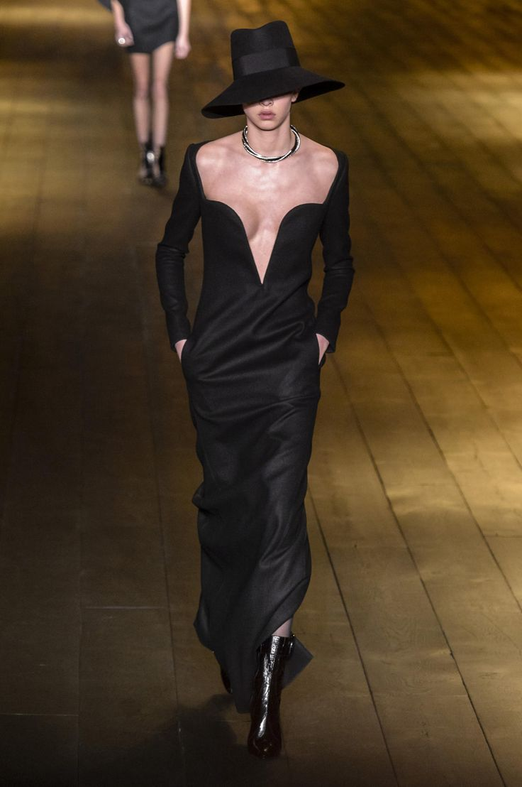YSL  long black maxi dress