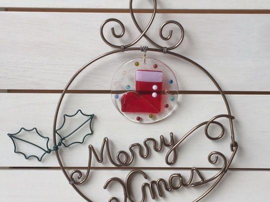 ガラスとワイヤーでクリスマスリースを作ろう!