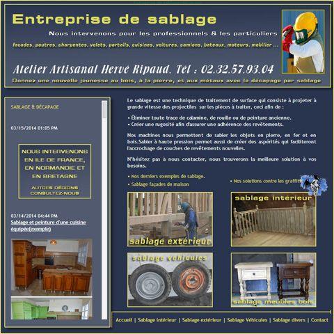 Entreprise de sablage intérieur & extérieur. Interventions en Ile de France, Normandie & Bretagne : http://www.sablage-bois-pierre-fer.com/index.html