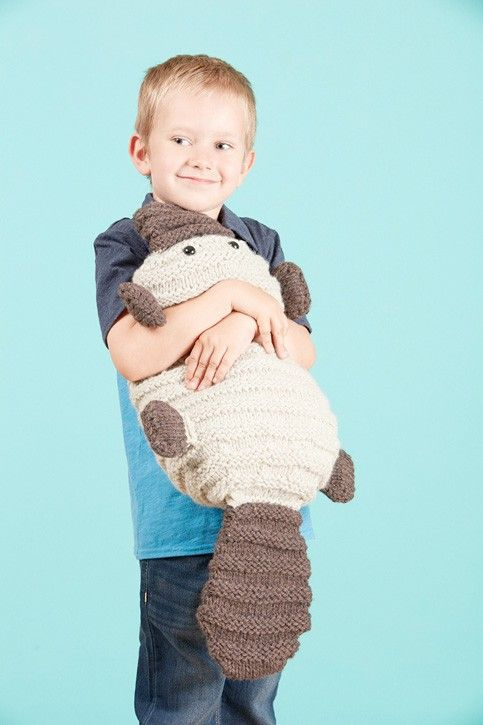 Cuddly Patrick the Platypus dares to be different, with paws like an otter, a tail like a beaver, and a beak like a duck. Knit him up quickly in bulky yarn—he'll love you forever. Suitable for ages 3 and up. Skill Level: