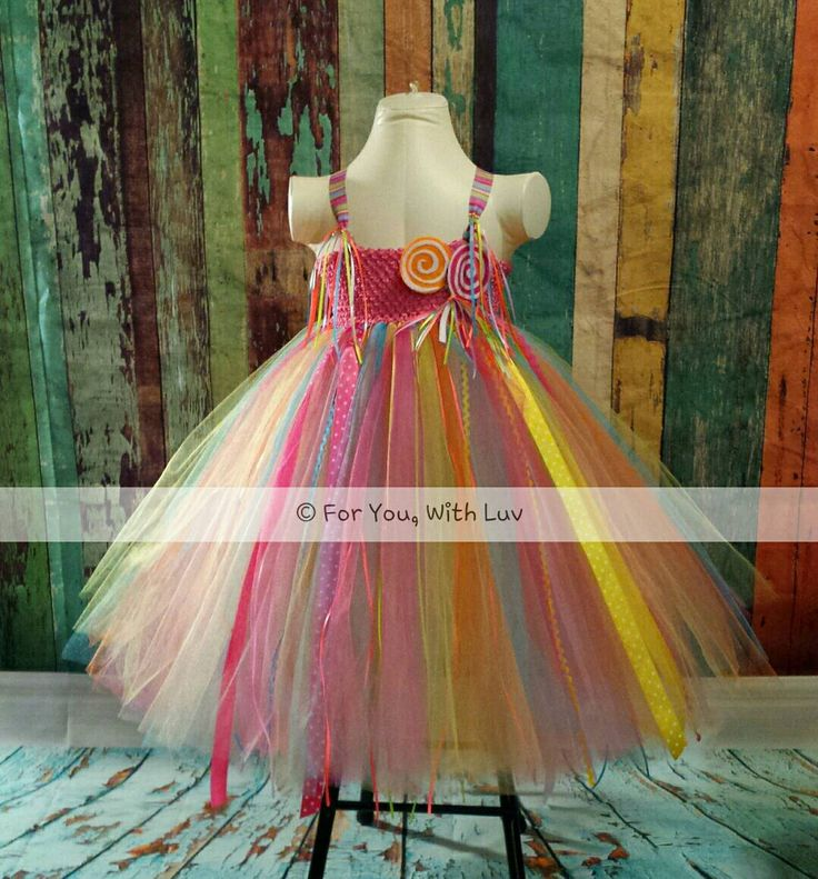 Candy lollipop girls tutu dress, pageant dress, birthday outfit, dance recital gown, girls special occasion dress, OOC girls dressy dress by ForYouWithLuv on Etsy