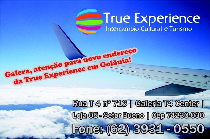 Olá Pessoal! Fiquem ligados no novo endereço da True Experience em Goiânia!