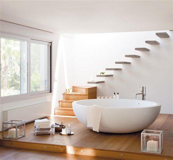 Revista el mueble   Una bañera en el dormitorio. #baños #muebles