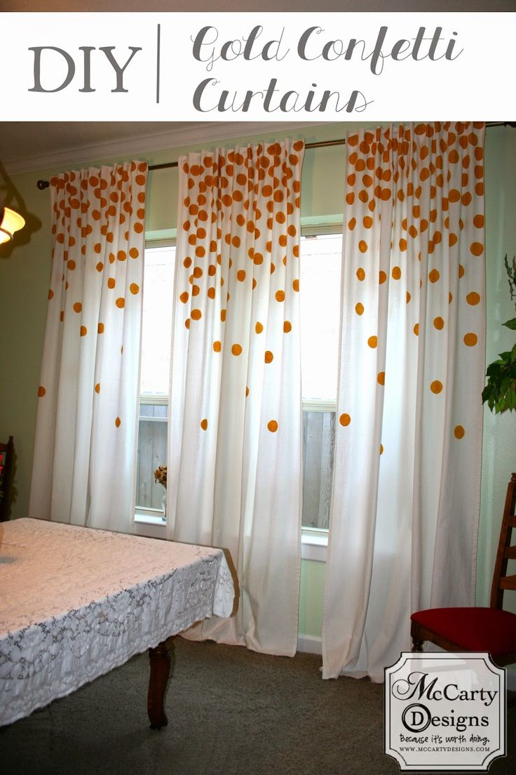 Pink and white polka dot curtains - Mccarty Adventures Diy Gold Confetti Curtains Painting Curtainspolka Dot