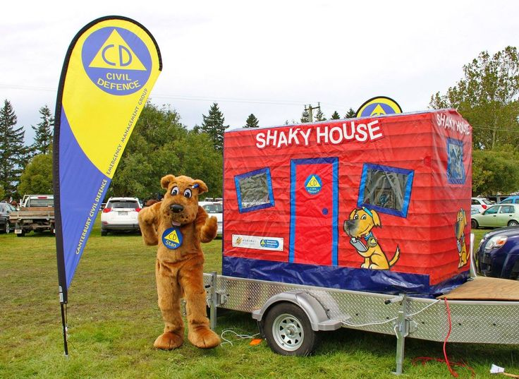 Get earthquake ready with Stan the dog and our Shaky House