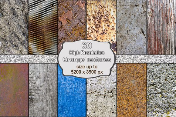 60 High Res Grunge Textures by digitalopedia on Creative Market