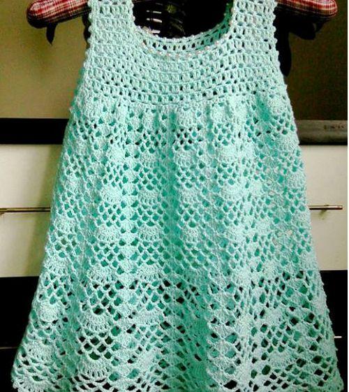 Sweet Nothings Crochet Beautifully Lacy Dress, free crochet baby dress pattern