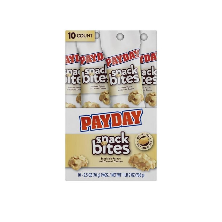 Payday Snack Bites Tubes, 2.5 Ounce (Pack of 10) => Quickly view this special product, click the image : Fresh Groceries