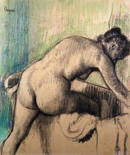 The Bath Art Print by Edgar Degas - WorldGallery.co.uk