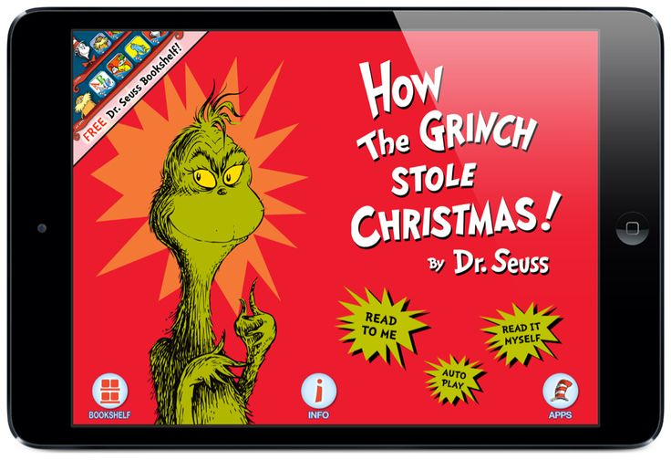 We must stop Christmas from coming! How The Grinch Stole Christmas! is now an interactive story app full of great features and customizations. read the full review at Touch Autism. #touchautism #grinch #christmasapps