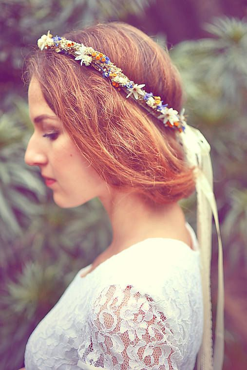Natural flowers floral headband floral wreath by FlorangeDeXeni