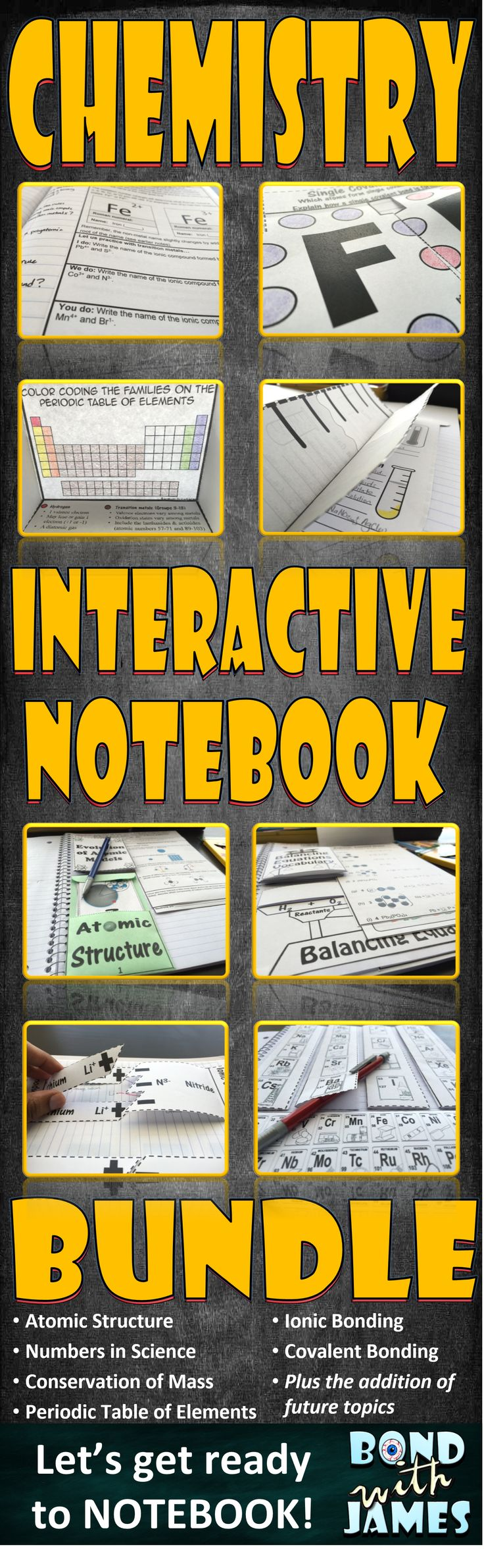 Ramp up your science interactive notebooks/lapbooks with the #Chemistry Interactive Notebook BUNDLE. Middle school and high school bundle versions available.