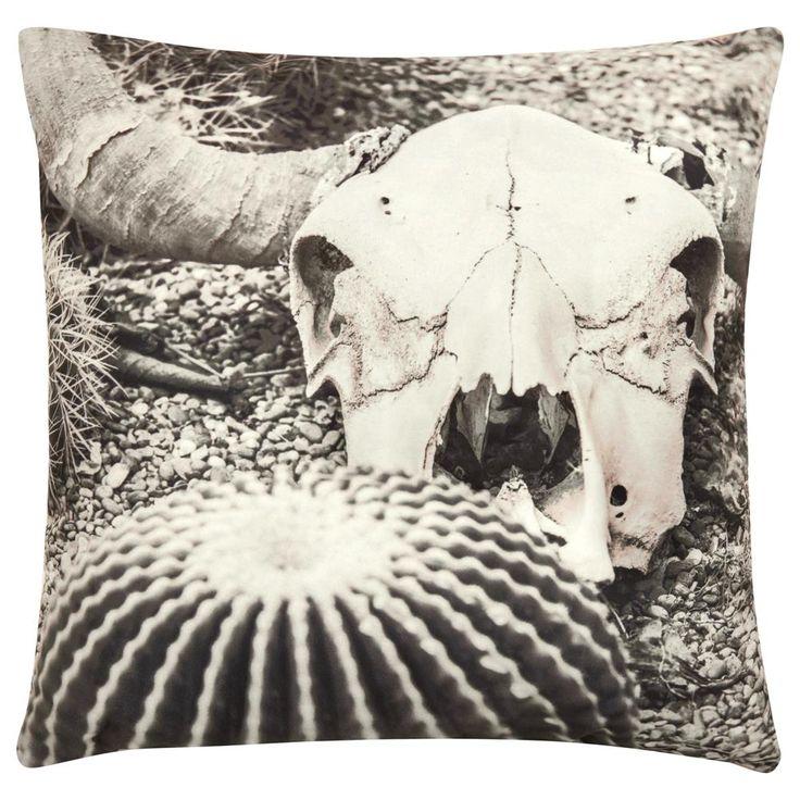 Coussin décoratif desert skull 18 x 18 bouclair com
