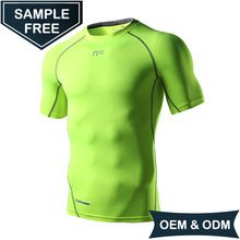 OEM/ODM High quality custom T shirts Dry fit compression streched mens sports wear for fitness running
