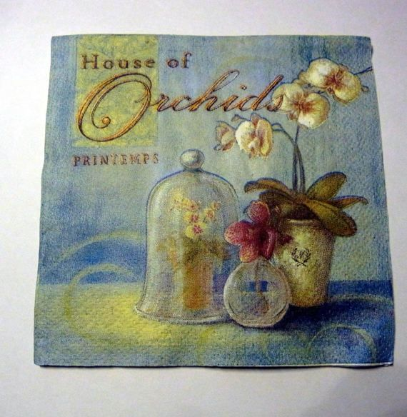 Decoupage Napkins  vintage paper napkins orchid by eryka91 on Etsy