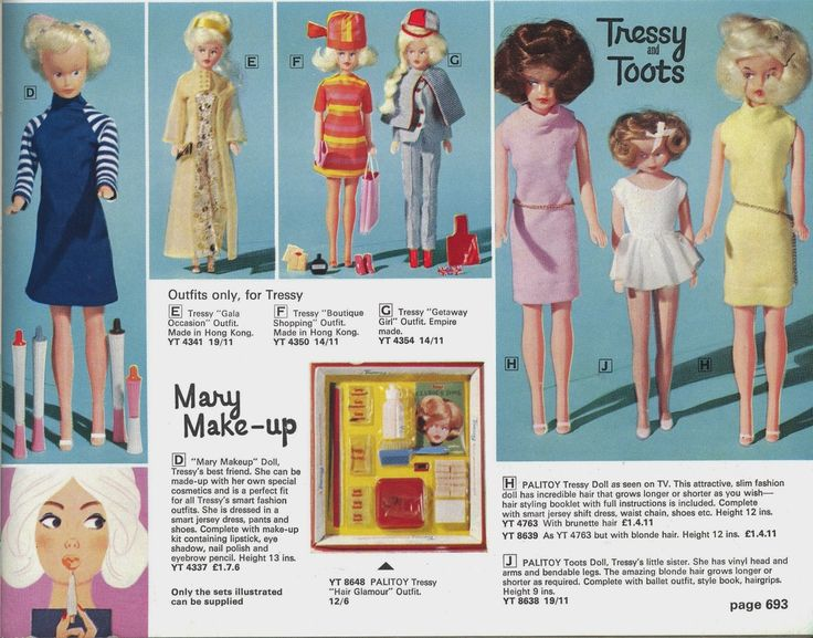 Tressy for sale in the 1967 Empire Stores catalogue