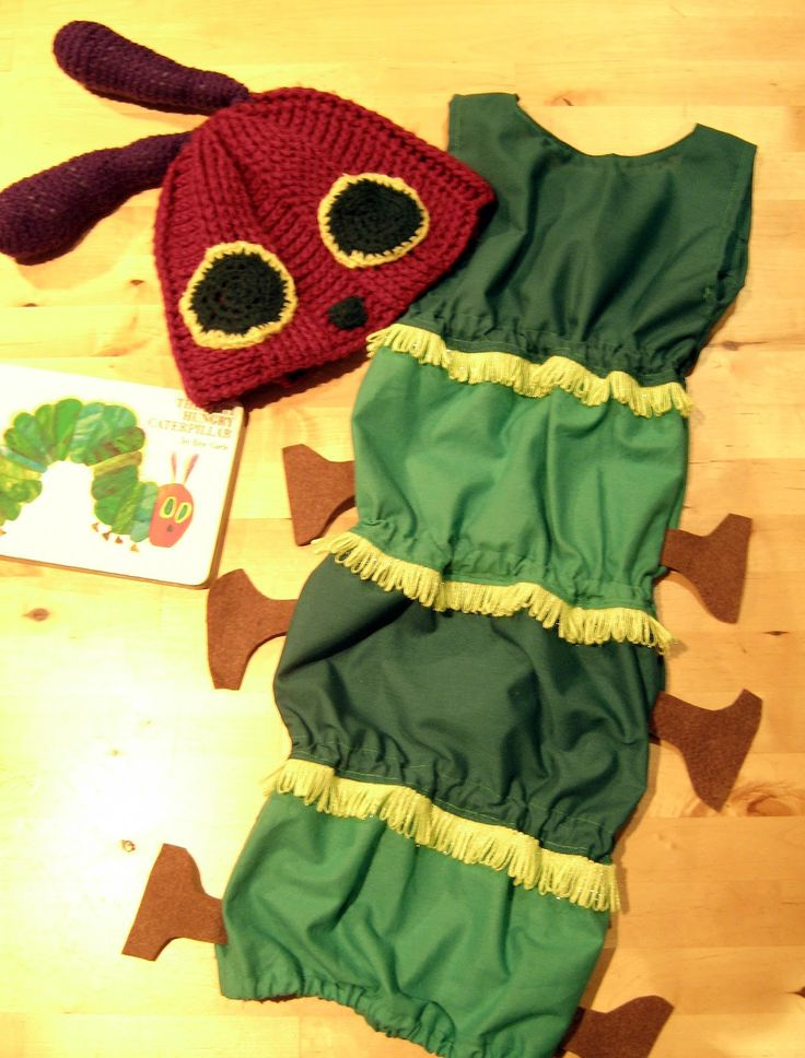 Virtage Gets Crafty: World Book Day: award-winning Very Hungry Caterpillar costume