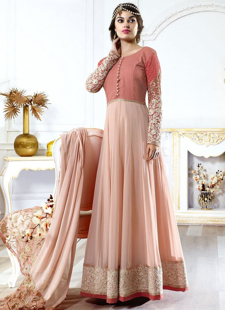Embroidered Georgette Anarkali Suit. This is so pretty!!