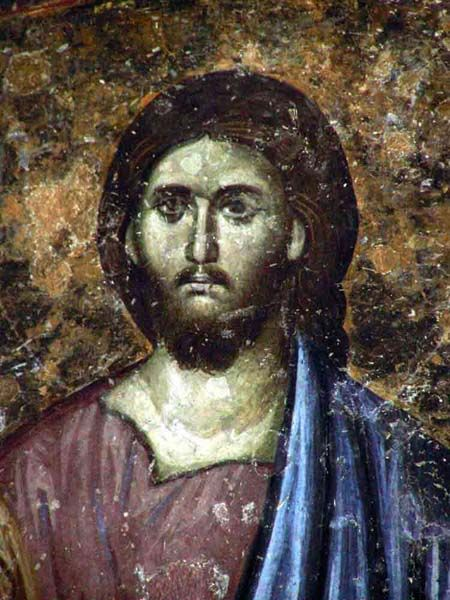 Eternal beauty of Christ - fresco 13th century, Sopocani Monastery, Serbia