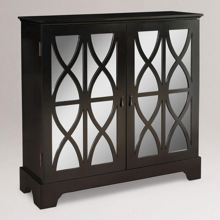 Inspiration piece for my old barn windows? Mirror Doors Console | World Market $329.99