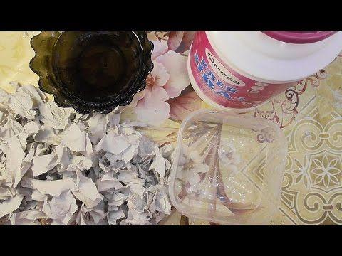 Как сделать массу Папье-маше из ПВА и бумаги. Мастер-класс  YouTube