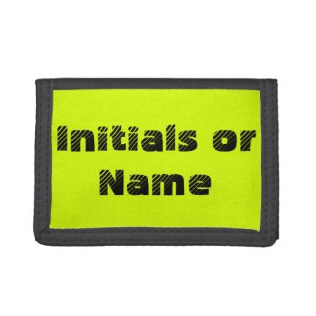 Neon Chartreuse Personalized Trifold Wallet - click to get yours right now!