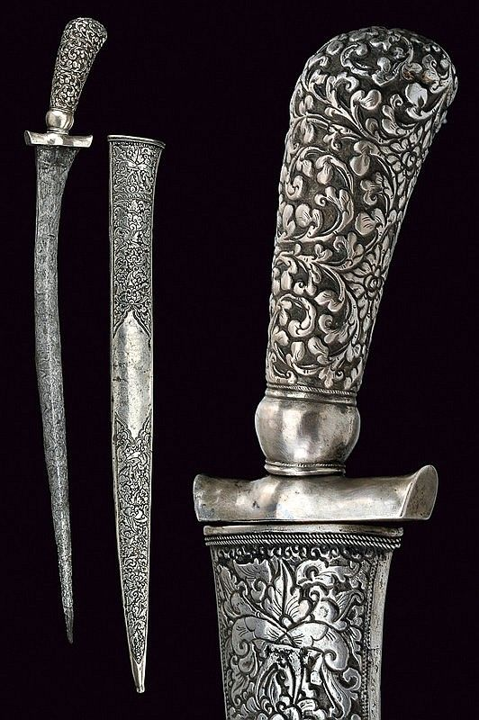 A silver mounted pedang, Indonesia, 19th century.