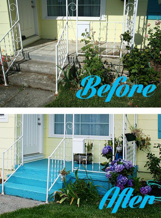 How to paint a concrete patio or foundation or sidewalk for How to paint a concrete patio