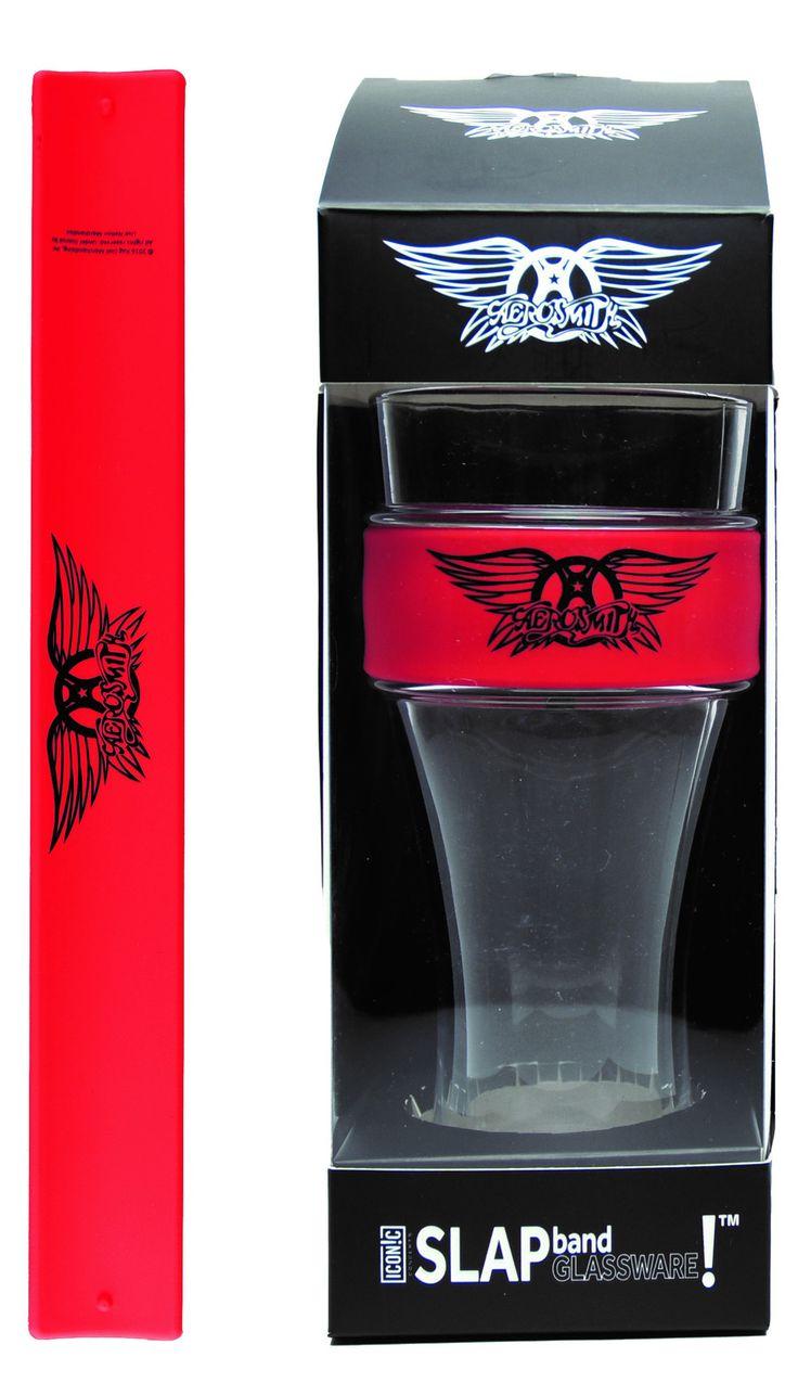 Aerosmith Slap Band Glassware - Single Pack with Slap Band Aerosmith Logo - Red Band w/Black Logo