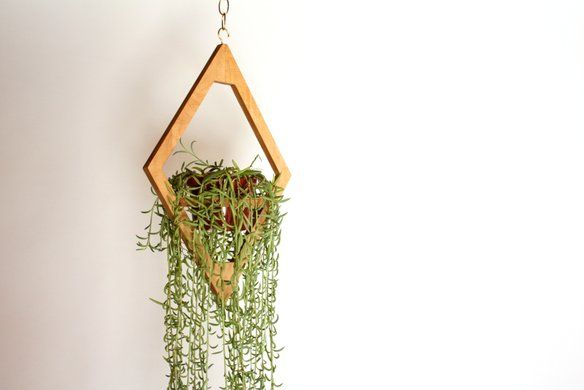 Geometric Hanging Planter // Modern Decor in Wilshire Center / Koreatown, Los Angeles, CA, USA ~ Krrb
