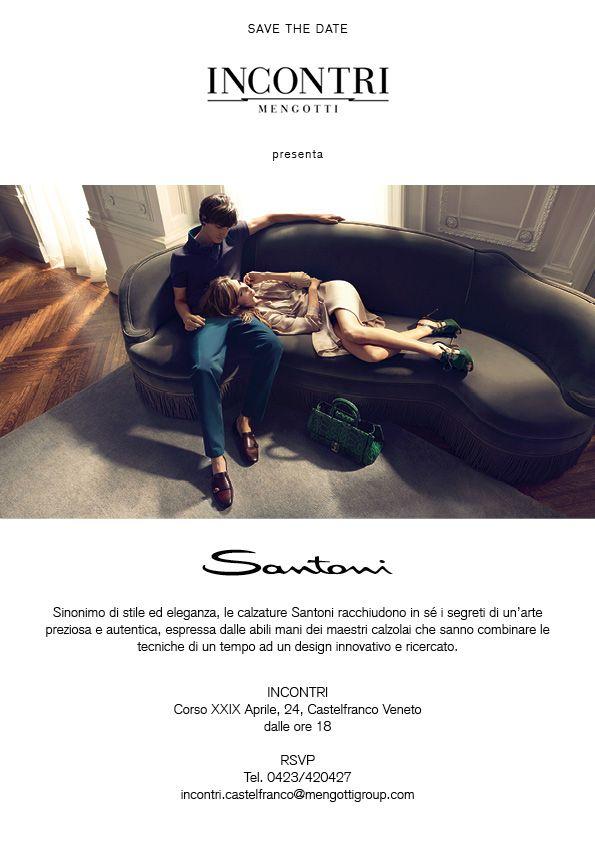 """Ti volevamo ricordare che stasera dalle 18 """"Incontri"""" di Castelfranco Veneto presenta """"SANTONI"""". Ti aspettiamo!!!Non mancare!!!"""