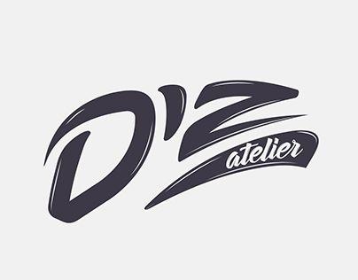 """Check out new work on my @Behance portfolio: """"Logo Diz atelier lettering"""" http://be.net/gallery/47565595/Logo-Diz-atelier-lettering"""