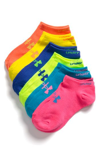 Under Armour No-Show Socks (6-Pack)(Big Girls) available at #Nordstrom