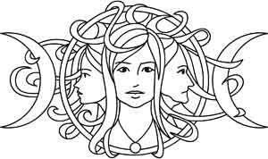 Triple Goddess design (UTH3230) from UrbanThreads.com