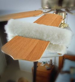 how to clean stove fan