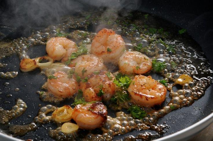 Petites crevettes miel et ail...une recette simple et rapide