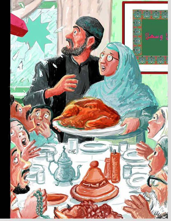 New Yorker cover Art Spiegelman winked at Norman Rockwell's 'Freedom from Want' to comment on anti-Muslim violence