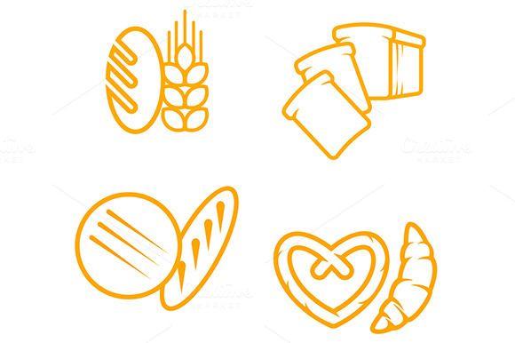 Bread symbols by seamartini on Creative Market