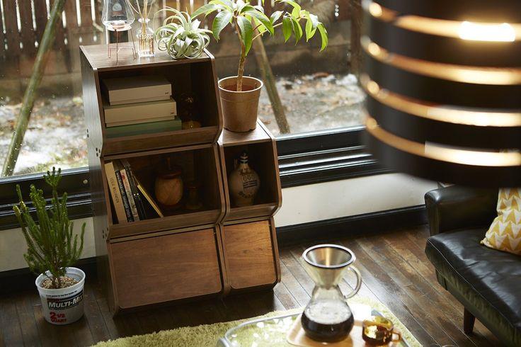 Amazon.co.jp : アイリスオーヤマ スタックボックス 扉付き 幅40×奥行38.8×高さ30.5cm ブラウン STB-400D : ホーム&キッチン