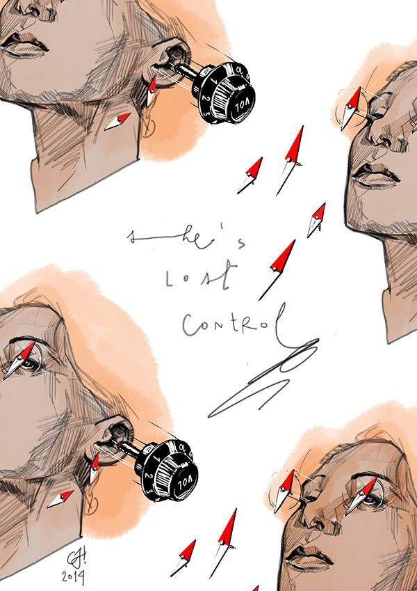 MUSICAL TRIBUTE #02: She's lost control. by Caterina Ferrante, via Behance