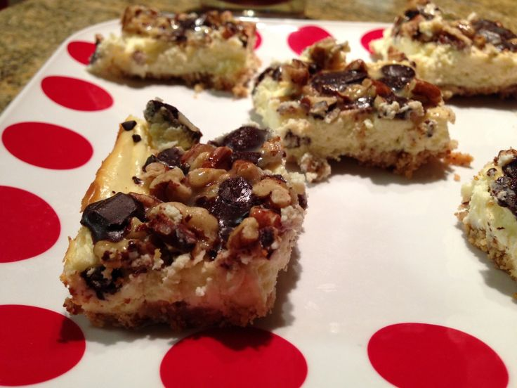 Turtle Cheesecake Bars from Ms. Criddles Kitchen
