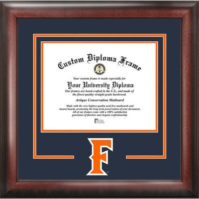 Campus Images NCAA California State University, Fullerton Spirit Diploma Picture Frame
